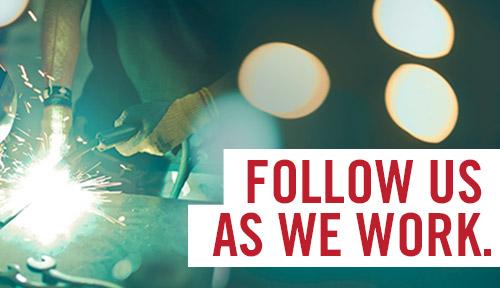 Follow us as we work. Twitter feed.